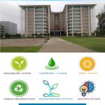 Green building | leed certification platinum rating 84 points infosys jaipur McD BERL